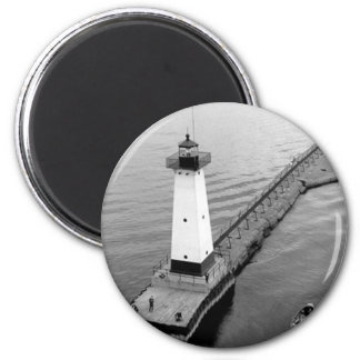 Sodus Outer Lighthouse 2 2 Inch Round Magnet