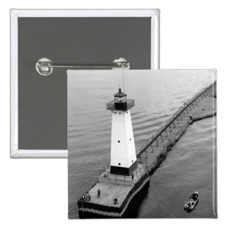 Sodus Outer Lighthouse 2 2 Inch Square Button