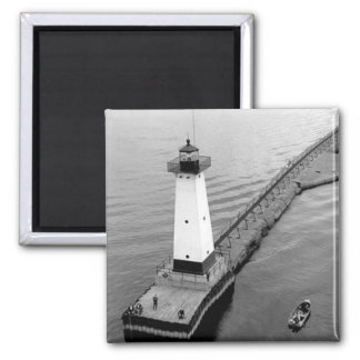 Sodus Outer Lighthouse 2 2 Inch Square Magnet