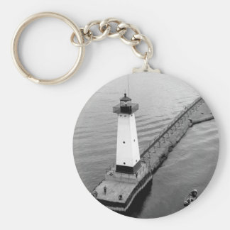 Sodus Outer Lighthouse 2 Basic Round Button Keychain