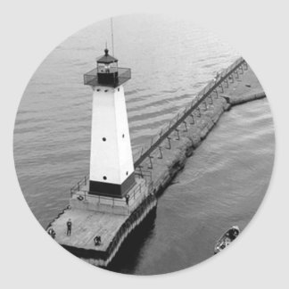 Sodus Outer Lighthouse 2 Classic Round Sticker