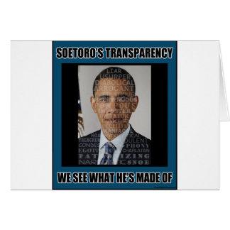 Soetoro's Transparency Greeting Card