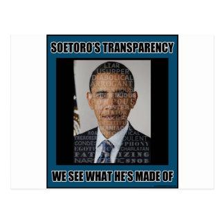 Soetoro's Transparency Postcard