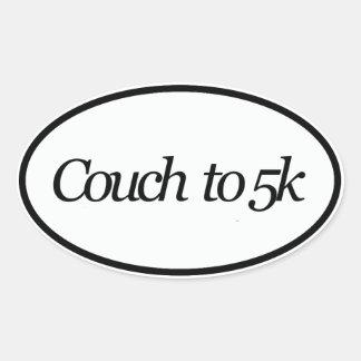 sofá 5k pegatina ovalada
