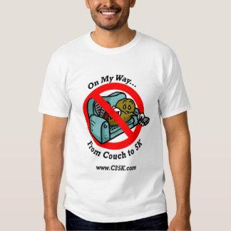 Sofá a la camiseta micro de la fibra 5k remera