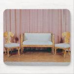 Sofa and two chairs, Karelian birch, 1810-20 Mouse Pad