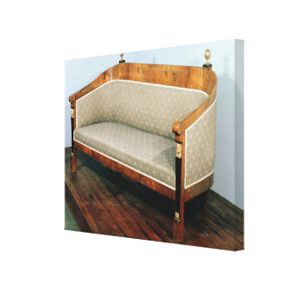 Sofa, Biedermeier style, c.1820 Canvas Prints