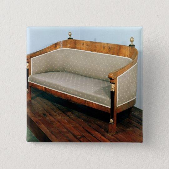 Sofa, Biedermeier style, c.1820 Pinback Button