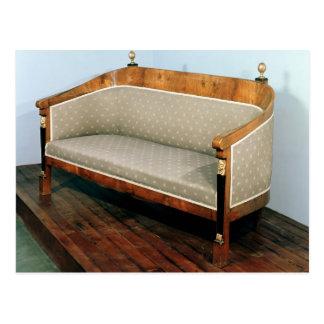 Sofa, Biedermeier style, c.1820 Postcard