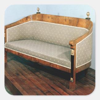 Sofa, Biedermeier style, c.1820 Stickers