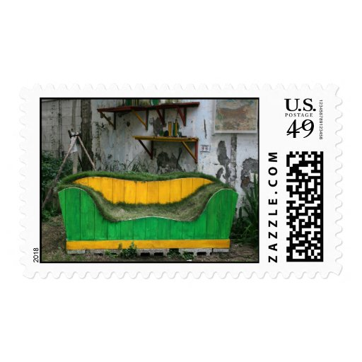 Sofá de la hierba sellos