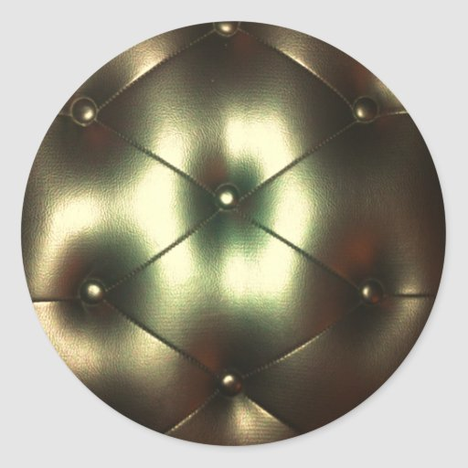Sofá de oro pegatina redonda