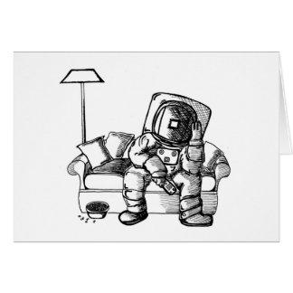 Sofá del espacio tarjeta de felicitación