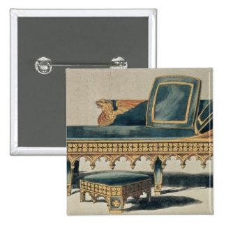 Sofá gótico del 'depósito de los artes pin cuadrado