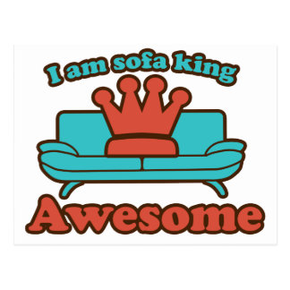 Sofa King Awesome Postcard