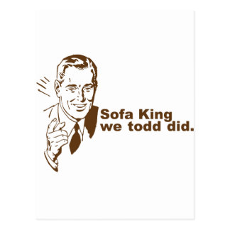 Sofa King... Postcard