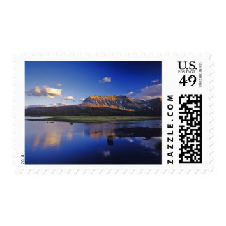 Sofa Mountain reflects into beaver pond in Postage Stamp