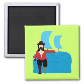 Sofa Pirate 2 Inch Square Magnet