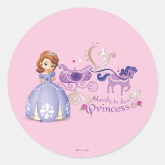 Sofía: Aliste para ser una princesa Pegatinas Redondas