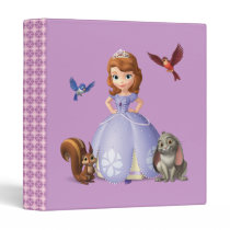 Sofia and Her Animal Friends 3 Ring Binder