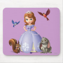 Sofia and Her Animal Friends Mouse Pad
