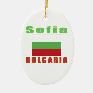 Sofia Bulgaria capital designs Ceramic Ornament