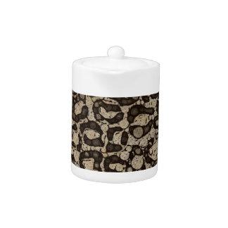 Sofia Cheetah Texture Teapot