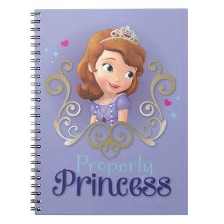 Sofía: Correctamente princesa Cuadernos
