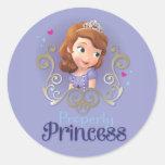 Sofía: Correctamente princesa Pegatina Redonda