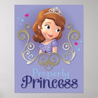 Sofía: Correctamente princesa Póster