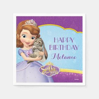 Sofía el primer cumpleaños servilletas de papel