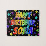 "[ Thumbnail: ""Sofia"" First Name, Fun ""Happy Birthday"" Jigsaw Puzzle ]"