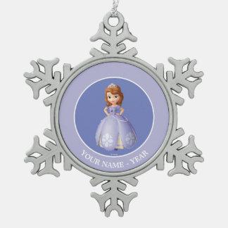 Sofía los primeros 2 adorno de peltre en forma de copo de nieve