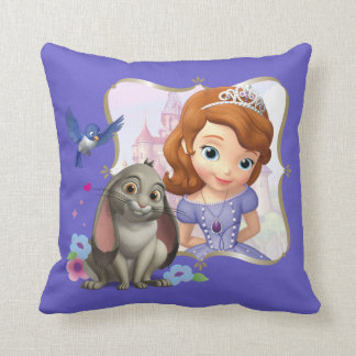 Sofia, Mia and Clover Throw Pillow