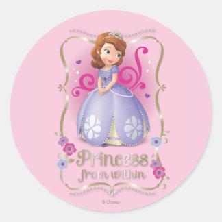 Sofía: Princesa de dentro Pegatina Redonda