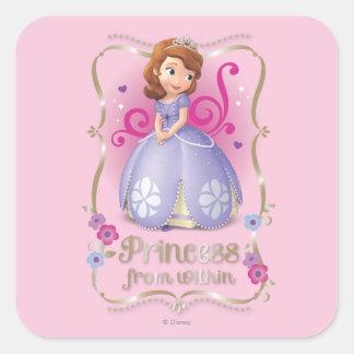 Sofía: Princesa de dentro Pegatina Cuadrada