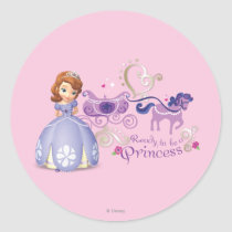 Sofia: Ready to be a Princess Classic Round Sticker