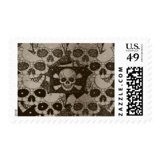 Sofia Skull Bling Postage Stamps