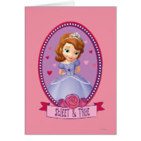Sofia Sweet and True Greeting Card