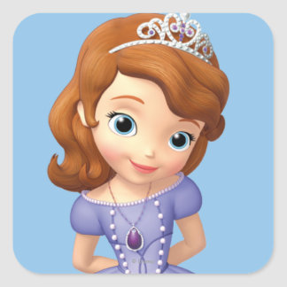 Sofia the First 1 Square Stickers