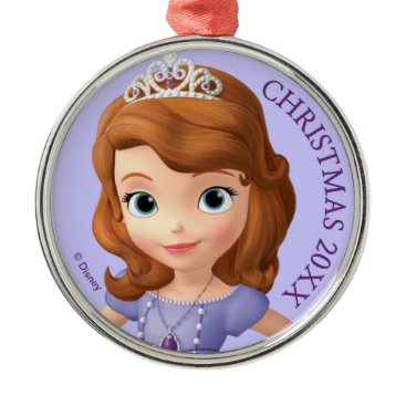 Disney Themed Sofia the First 2 Metal Ornament