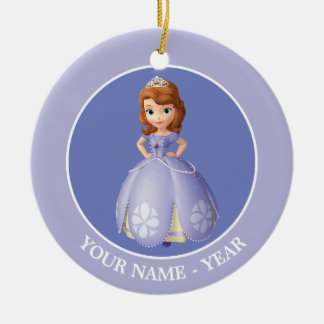 Sofia the First 2 Double-Sided Ceramic Round Christmas Ornament