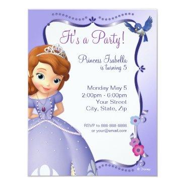 disney Sofia the First Birthday Invitation