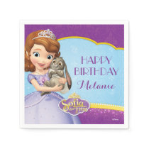 Sofia the First Birthday Paper Napkin
