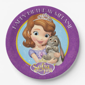 Sofia the First Birthday Paper Plate