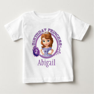 Sofia the First   Personalized Birthday Baby T-Shirt