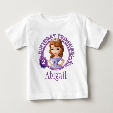 birthday Sofia the First | Personalized Birthday Baby T-Shirt