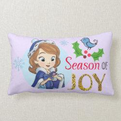 Throw Pillow Lumbar 13' x 21' with Disney Christmas Ornaments design