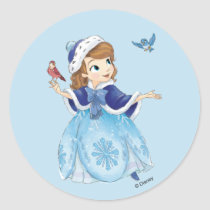 Sofia the First | Sofia The First With Friends Classic Round Sticker