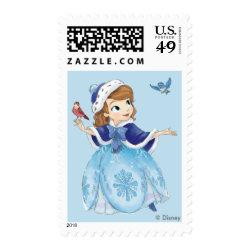 Medium Stamp 2.1' x 1.3' with Disney Christmas Ornaments design